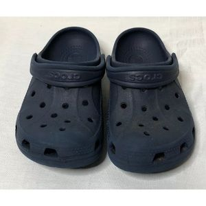 Crocs, Kids Size 10/11, Unisex, Navy Blue, GUC